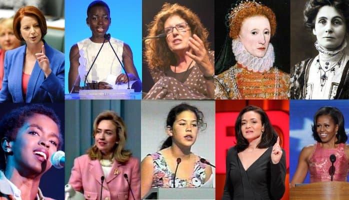 My Top Ten Favourite Speeches by Women