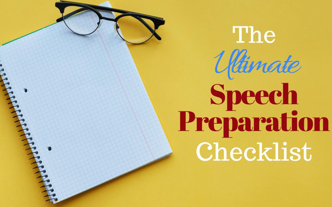 speech preparation checklist