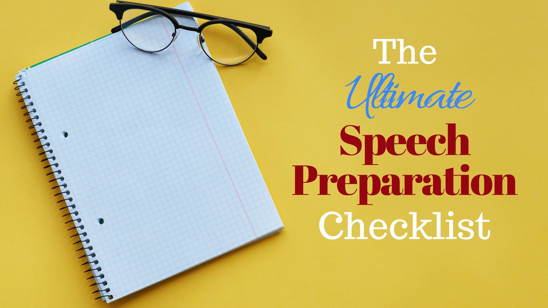 the ultimate speech preparation checklist for public speaking