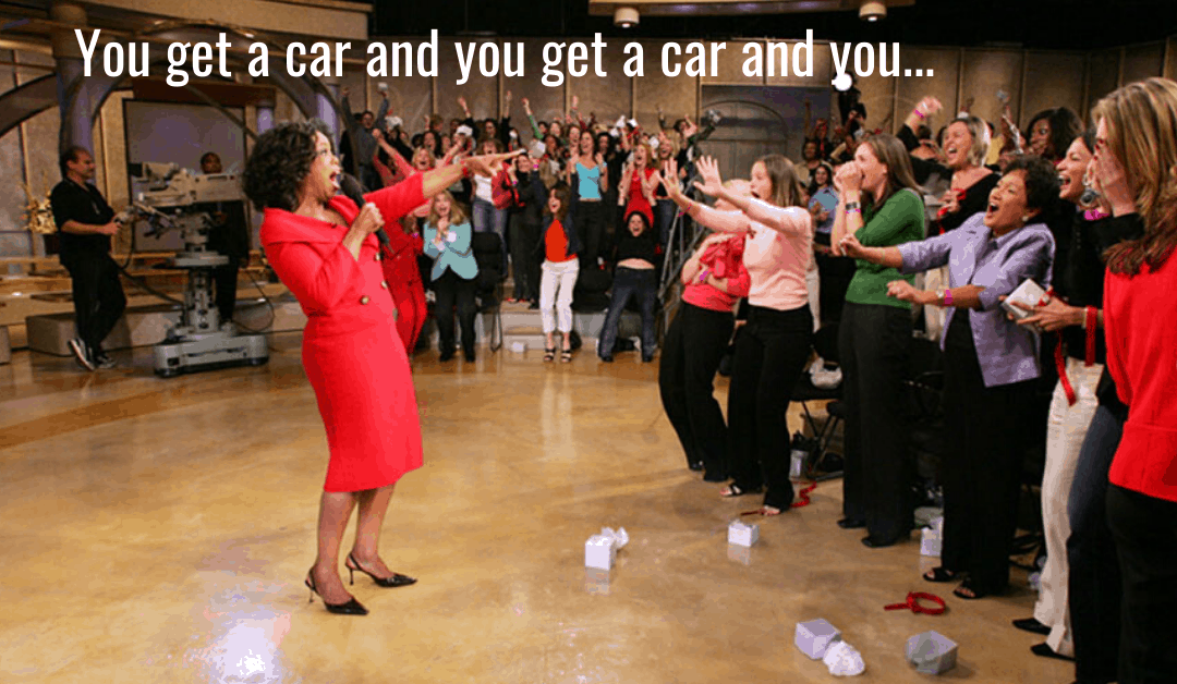 Want to know how to make your audience love you? Give them a car!